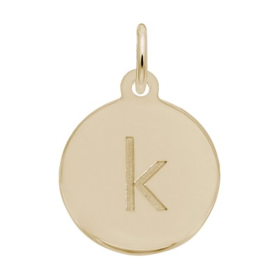 Petite Initial Disc - Lower Case Block K