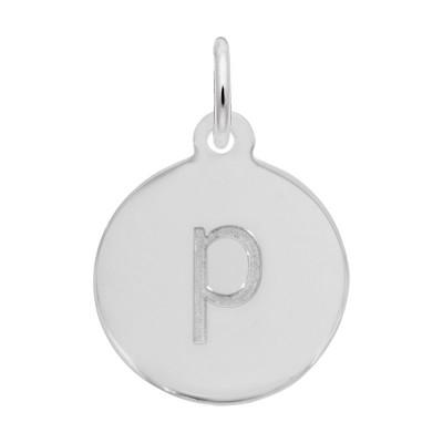 Petite Initial Disc - Lower Case Block P