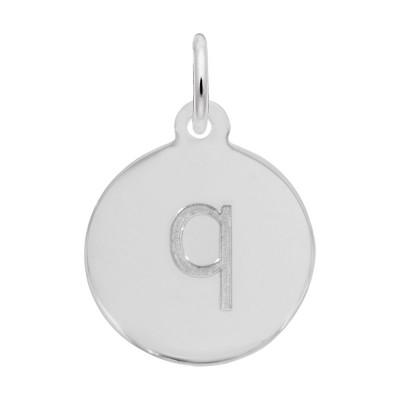 Petite Initial Disc - Lower Case Block Q
