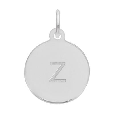Petite Initial Disc - Lower Case Block Z