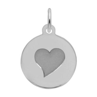 Petite Initial Disc - Heart