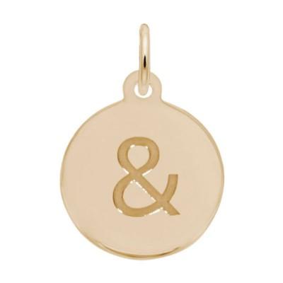 Petite Initial Disc - Ampersand Symbol