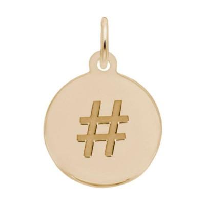 Petite Initial Disc - Hashtag/Pound Symbol