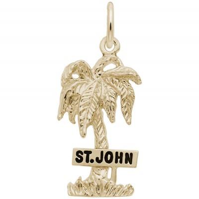 ST. JOHN PALM W/SIGN