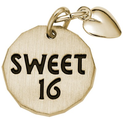SWEET 16 TAG W/HEART