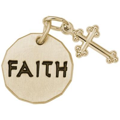 FAITH TAG W/CROSS