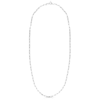 """Silver 16"""" Paperclip Chain 2.5mm"""