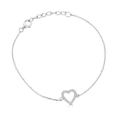 Sachs Signature Open Heart Bracelet