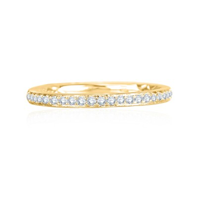 14K Yellow Gold 0.13Ctw Semi Mount With Round Head.