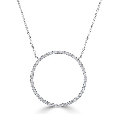 Sachs Signature .25ctw Open Circle Necklace