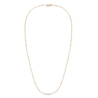 """14K Rose 16"""" Vintage Mariner Necklace"""