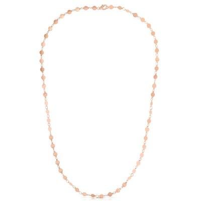 """14K Rose 7"""" Round Mirror Chain Bracelet"""