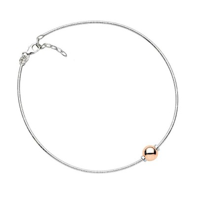 SS/14KR Single Bead Cape Cod Anklet