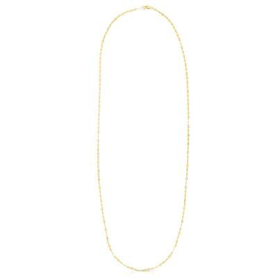 """14K Yellow 18"""" Diamond Mirror Chain"""