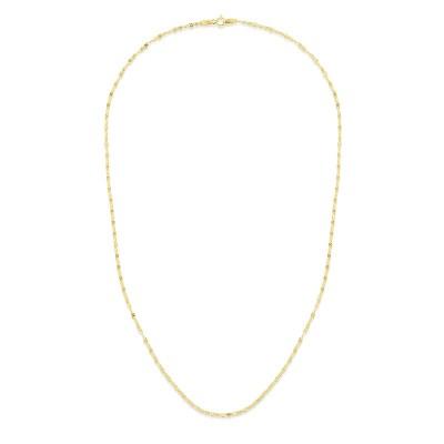 "14K Yellow 24"" Diamond Cut Mariner Necklace"
