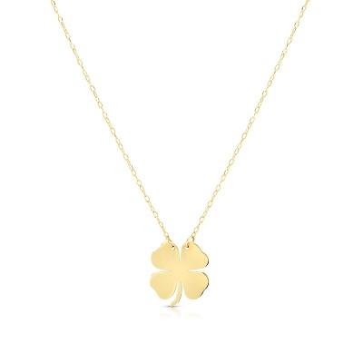 14K Clover Necklace