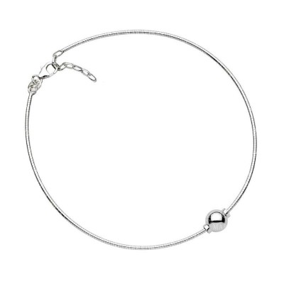 SS Single Bead Cape Cod Anklet