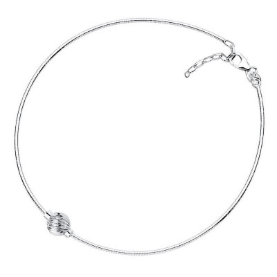 SS Swirl Bead Cape Cod Omega Anklet