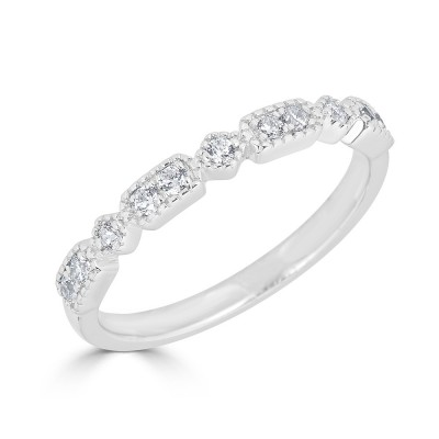 Sachs Signature Stackable Rectangle Ring White