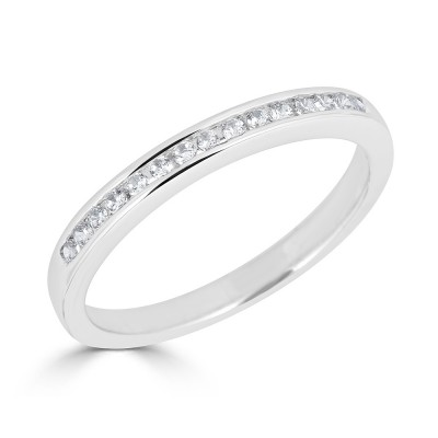 Sachs Signature Channel Prong .15ctw Wedding Band