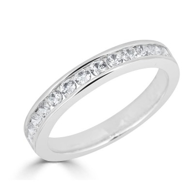 Sachs Signature Channel Prong .50ctw Wedding Band