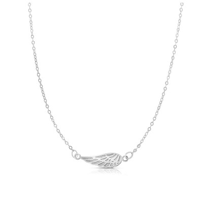14K White Angel Wing Necklace