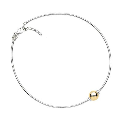 SS/14KY Single Bead Cape Cod Anklet