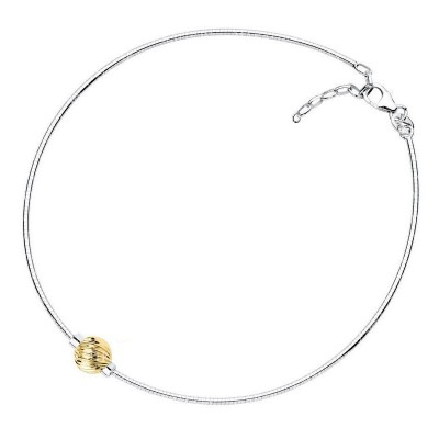 SS/14KY Swirl Bead Cape Cod Anklet