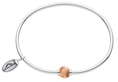 SS/RG Swirl Bead Cape Cod Bracelet