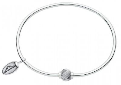 SS Swirl Bead Cape Cod Bracelet