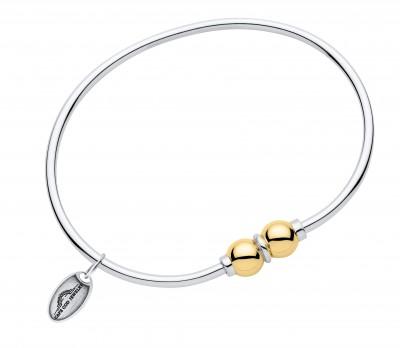 SS/14YG 2 Bead Cape Cod Bracelet