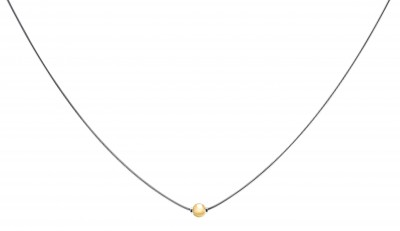 """SS/ YG Cape Cod Bead Necklace 18"""""""